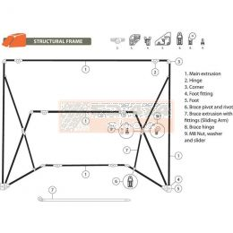 Oztent RV Frame Replacement parts - RVFR