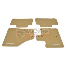 Front & rear contour carpet set with rubber backing - LR002497