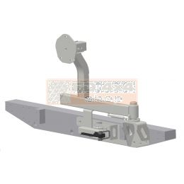 Tembo 4x4 Reservewiel drager met boutbevestiging voor Landrover def. 90/110 - TB1300
