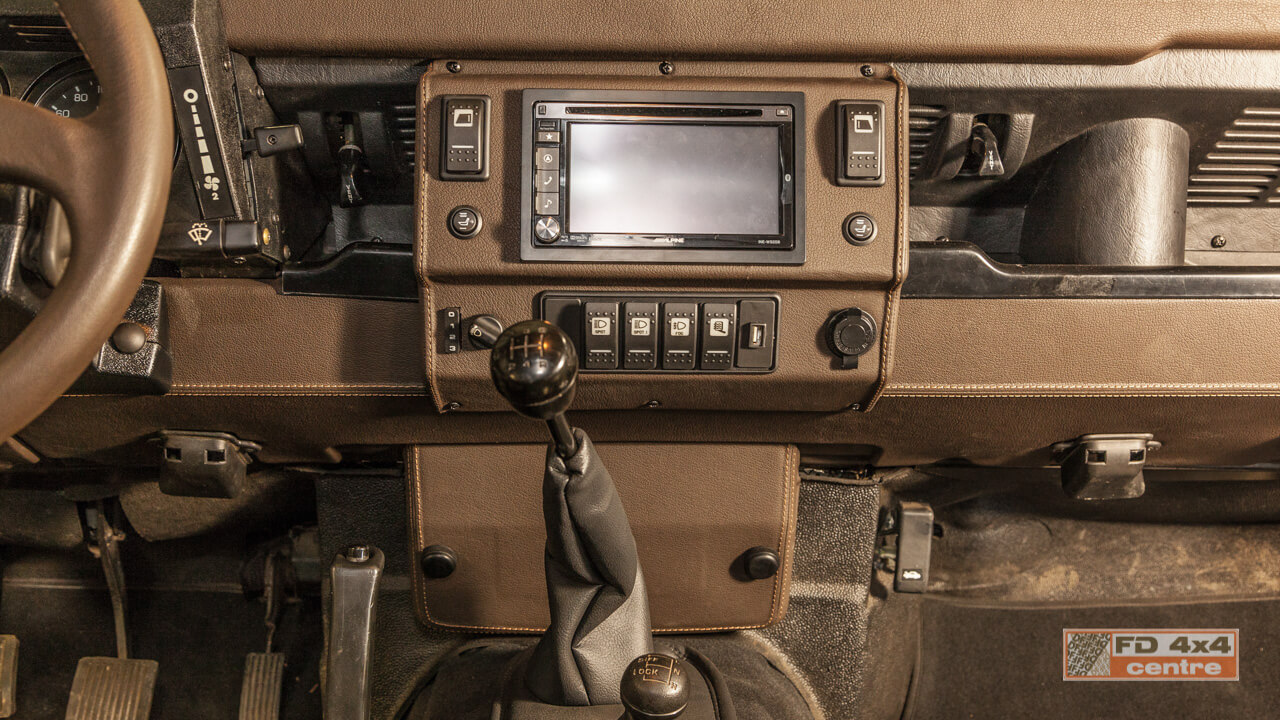 Maori Defender interior dashboard