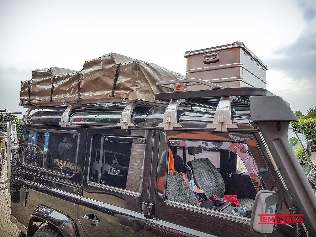 Land Rover Defender 110 Tembo 4x4 Roof rack. roof tent