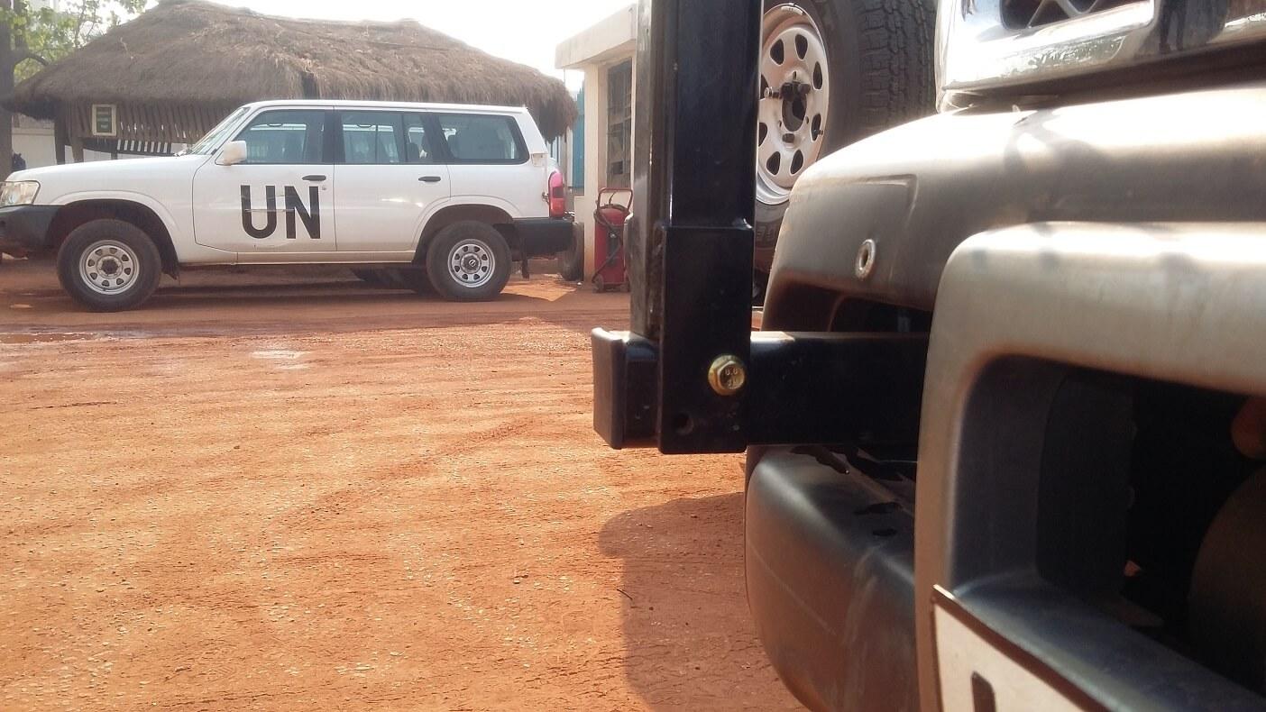 Aid organisations Codan antenna bracket