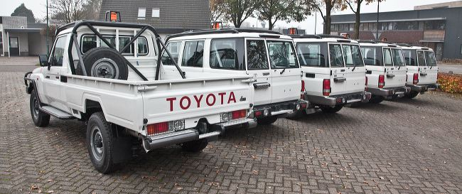 Toyota Land Cruisers conversion for mining fleet